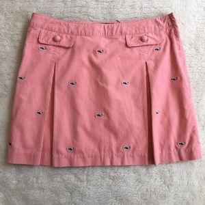Vineyard Vines Girl Whale Pink Skirt Size 14